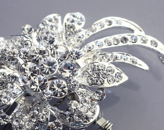 ON SALE - Crystal Rhinestone bridal Hair comb vintage inspired wedding Headpiece