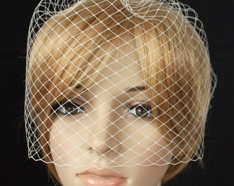Birdcage Veil Russian netting White or Ivory cream Wedding Reception