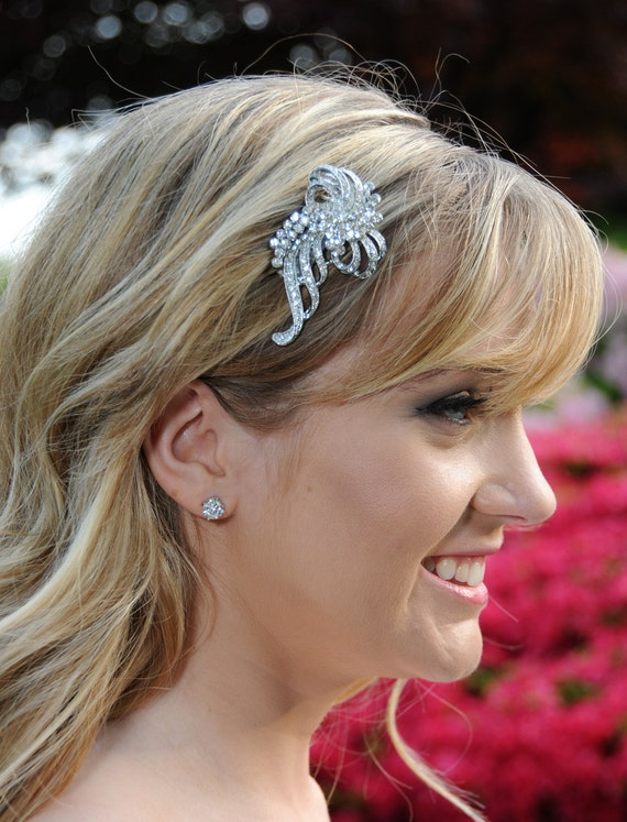 Bridal Hair comb - Vintage Style Rhinestone Wedding Bridal Headpiece