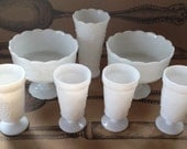 Milk Glass Wedding Collection 7 pieces