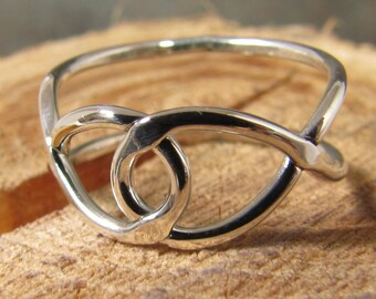 Argentium sterling silver infinity ring