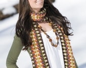 Hippie Throwback Scarf Crochet Pattern PDF