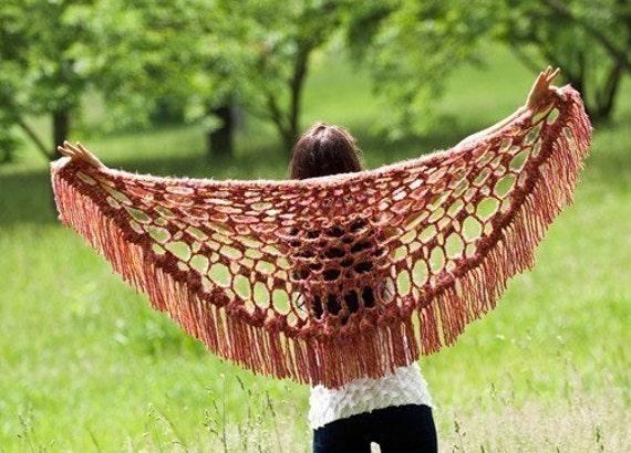 Colorful Summer Shawl Crochet Pattern PDF