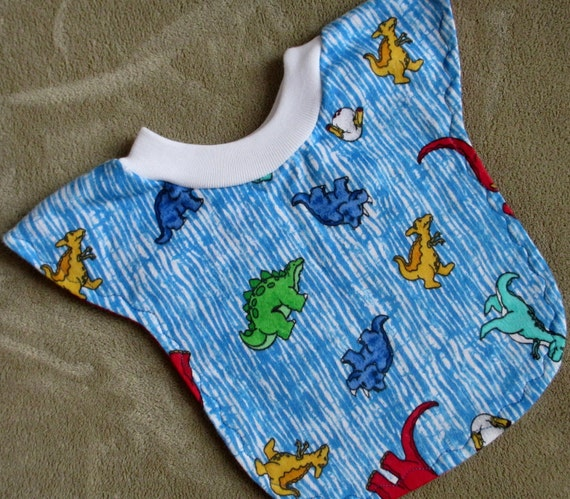 CLEARANCE....Dinosaurs Baby/Toddler Regular Reversible Pull-Over Bib....Ready to Ship
