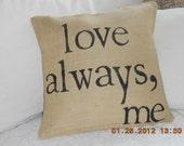love always,me.............Natural Burlap Pillow Slip