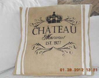 On Natual Buurlap Chateau Marmont Pillow Slip