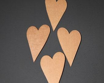 Cardboard Hearts set of 8