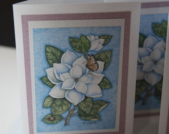 Magnolia Greeting Cards Set of 4