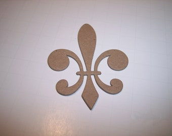 Fleur de lis Chipboard Die Cut Set of 3