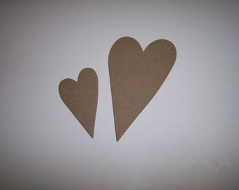 Hearts Large and Small Chipboard Set of 4