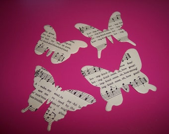 Vintage Butterfly Die Cuts from Hymnal