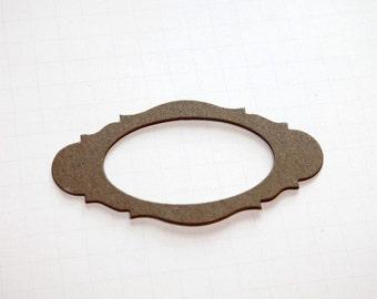 Oval Frame Chipboard Set of 6