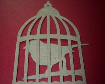 Bird and Cage Die cuts set of 4