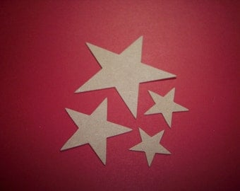 Stars Die Cut set of 12