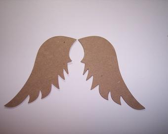 Angel Wings Die Cut of Chipboard