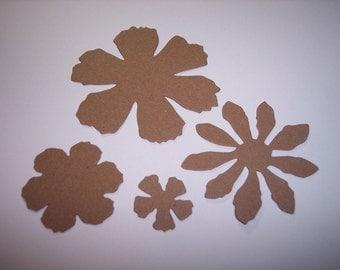Tattered Flower Die Cuts set of 12