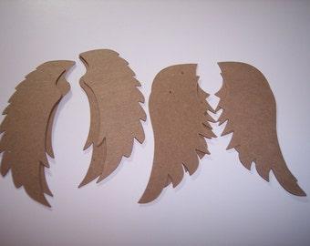 Angel Wings Die Cut of Chipboard 4 Sets