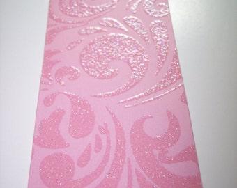 Tags Die Cut From Glitter Embossed Cardstock set of 6