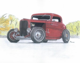 Red 32 Ford Coupe