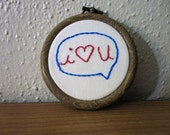I Heart You Mini Embroidery