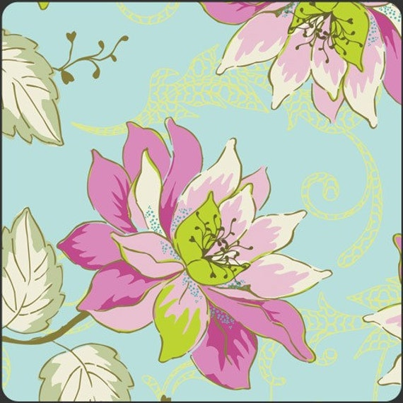 Art Gallery Fabrics - Girly Girl - Aqua Garden