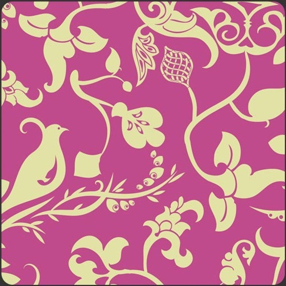 SALE Art Gallery Fabrics - Alhambra II - Palace Conversation Berry