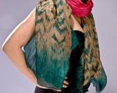 Hand Dyed Chiffon Silk Scarf - HOLIDAY GIFT