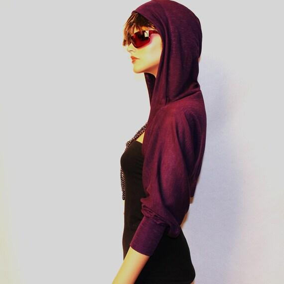 Purple  Hooded Shrug/shrugs boleros/yoga boleros/day HS-Purple
