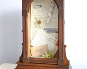 Antique Shadowbox Curio Cabinet