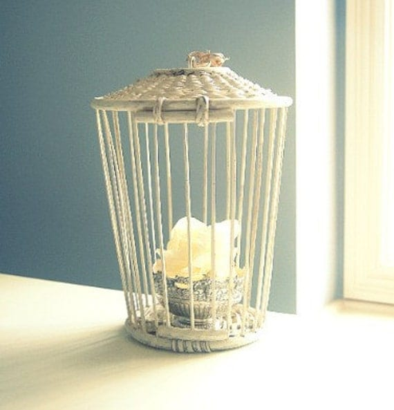 RESERVED FOR DEB SALE Shabby Vintage Bird Cage