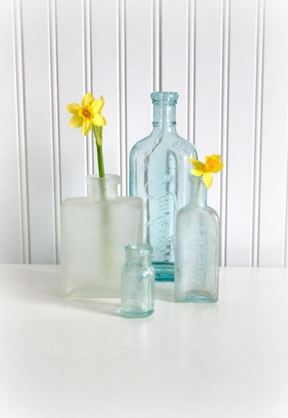 Vintage Collection of Glass Bud Vases
