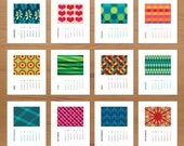 2011 Modern Pattern Calendar MINI VERSION