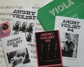Issues 1-3 of Angry Violist zine