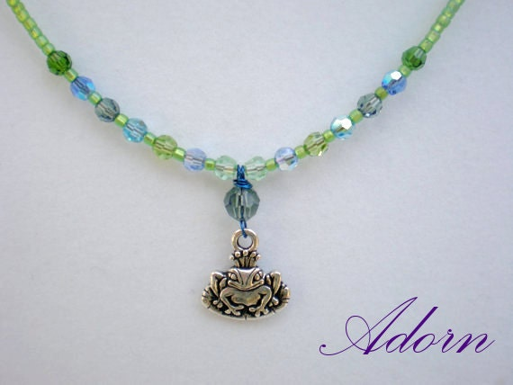 Frog Prince Little Girls Necklace