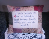smile friend pillow