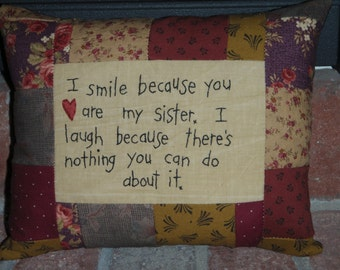 Smile Sister Pillow