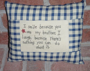 Smile Brother Pillow