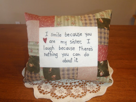 1 Smile Sister Pillows SPECIAL LISTING MARIESSA