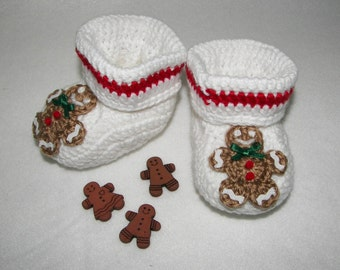Baby Booties, Gingerbread NB to 6 Months or 6 to 12 Months Finely Finished Crochet