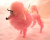 Pink Poodle Decoration, Retro Nostalgic Look for Your Home