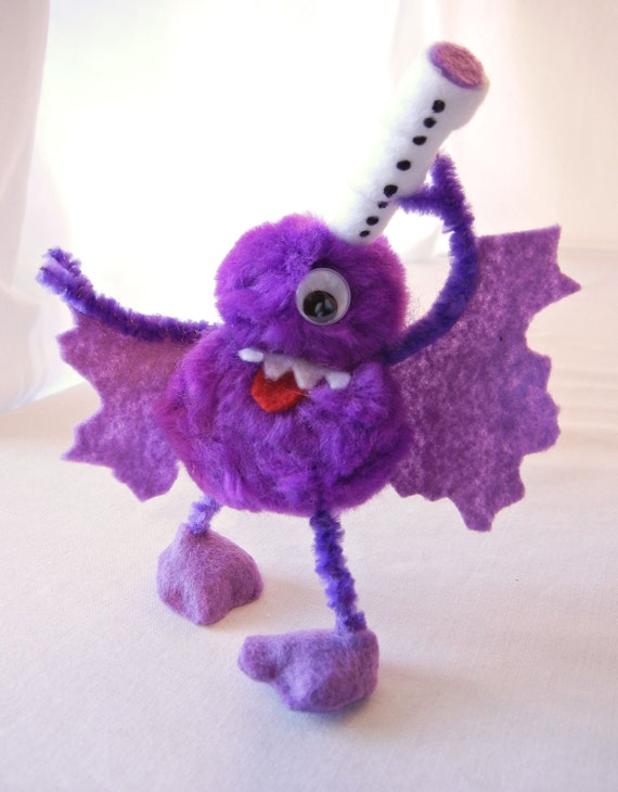 Flying Purple People Eater Figurine, Inspired by Sheb Wooley 1958 Song