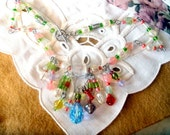 Pastel Ice necklace in pink, blue, green, and amber