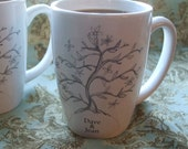 Mugs, Couples Gift, Mother's Day, Personalized Gift, Tree of Life, Anniversary, Bride, Groom, Wedding, Gift, Custom Coffe Mugs (set of 2)