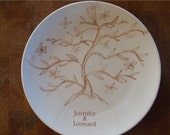 Family Gift Set,Tree of Life,ketubah, wedding gift, anniversary gift, Dishes, Personalized dessert plates (set of 4)