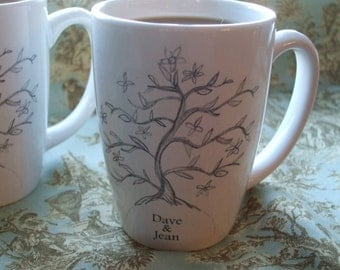 Wedding Gifts For Jewish Couples : Mugs, Couples Gift, Mothers Day, Personalized Gift, Tree of Life ...