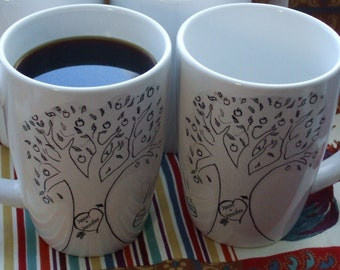 Mug, For Her, Personalized, Mothers Day Gift, Family Tree, Apple Tree, Apple Tree Mugs Folk -One