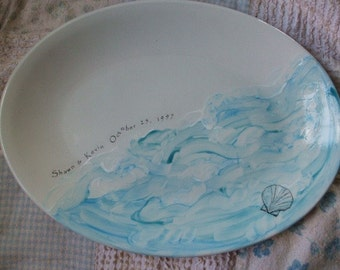 Personalized Platter, Wedding Gift for Couple, Anniversary Gift, Serving, Ocean, Sea, Sea shell, Couples gift, Serving, Dish