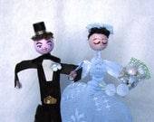 Vintage style Wedding cake Topper