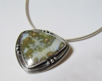Ocean Jasper in Sterling Silver Pendant