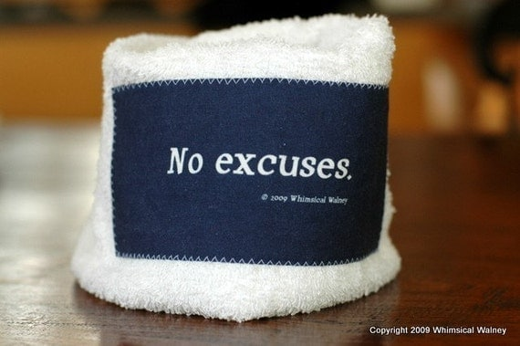CLEARANCE/SECONDS - Motivational Workout Towel - No excuses